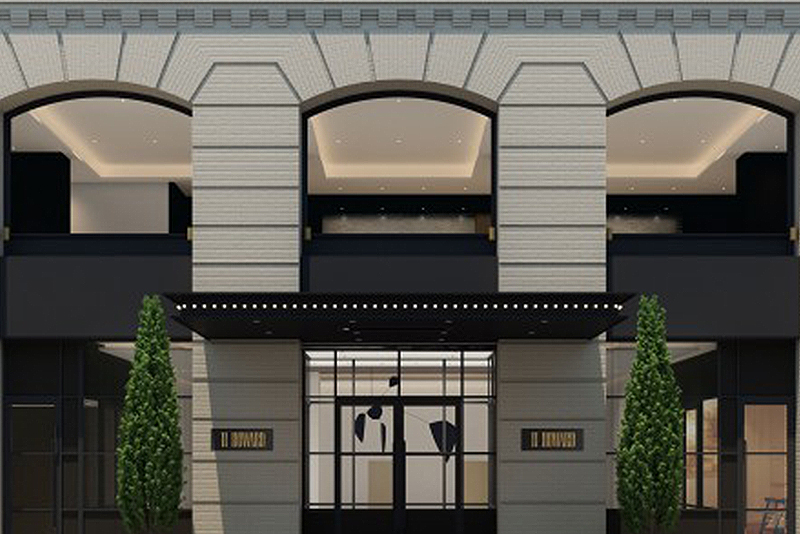 Three designers combine for 11 howard new york hotel for Hotel design companies