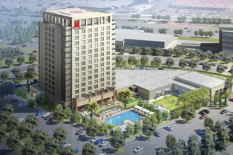 Three firms combine for irvine spectrum marriott in orange for Architecture firms orange county
