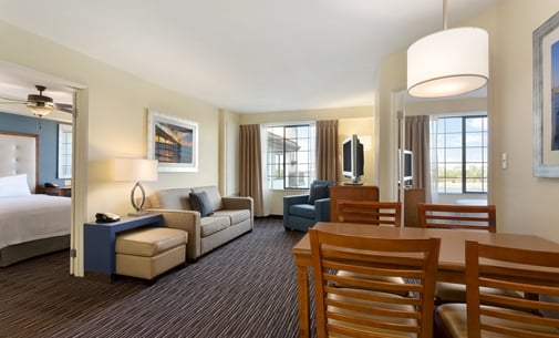 Homewood Suites Guestroom  New Homewood Suites by Hilton opens in Munster  Ind Hotel. 2 Bedroom Suite Hotel