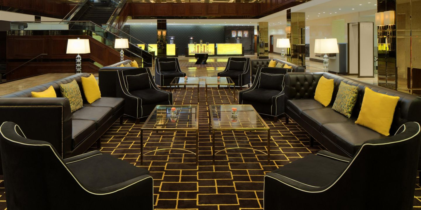 Five hotel lobby designs ranging from classic to post for Hotel design 77