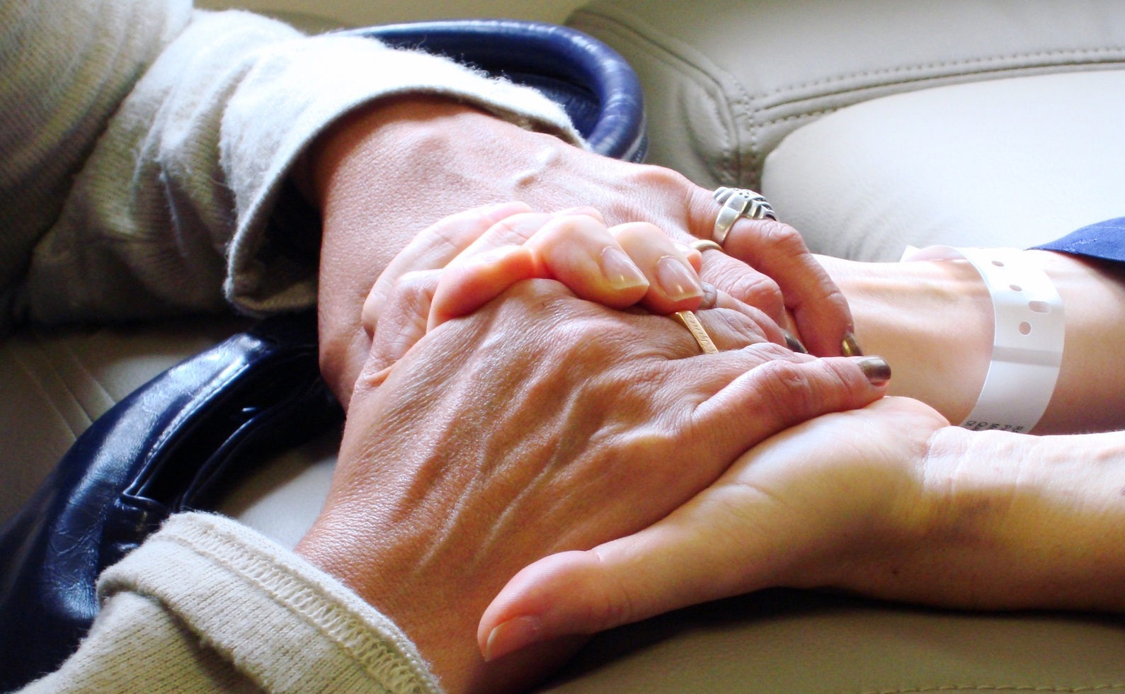 Hands clasping