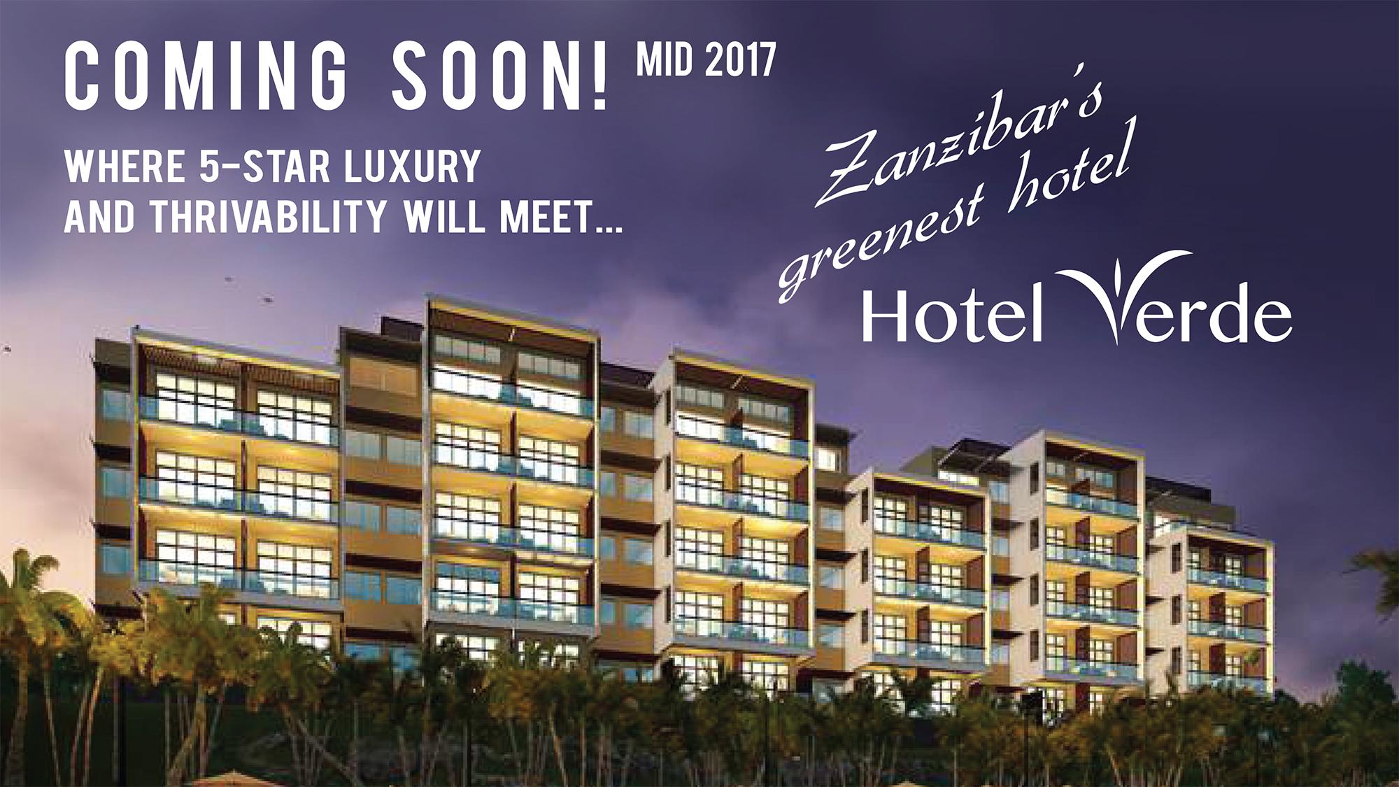 Bakhresa group verde hotels to open hotel verde zanzibar for Hotels zanzibar