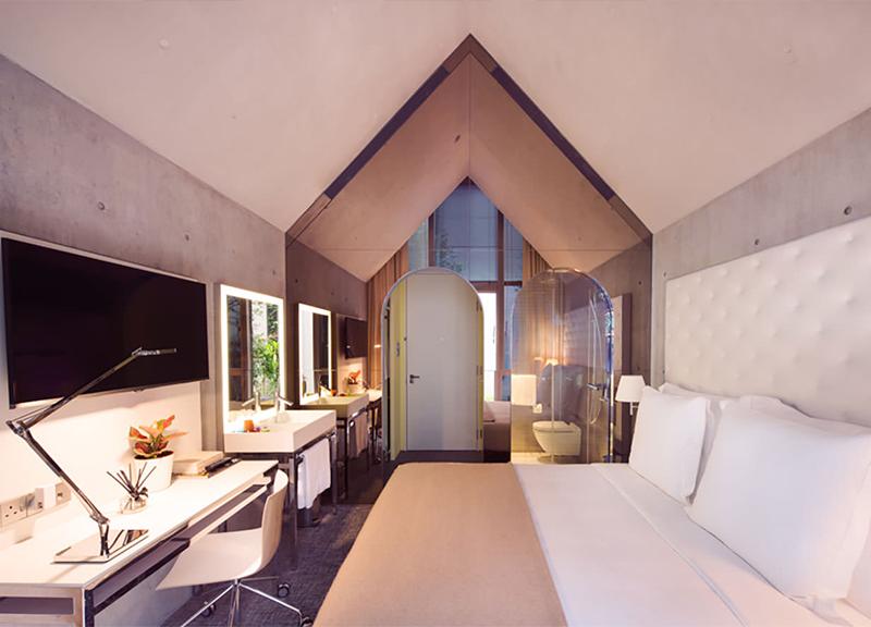 philippe starck designs m social singapore hotel hotel management. Black Bedroom Furniture Sets. Home Design Ideas