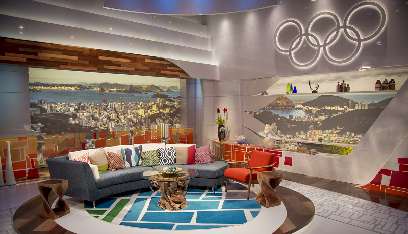 NBC Olympics' prime time studio in Rio