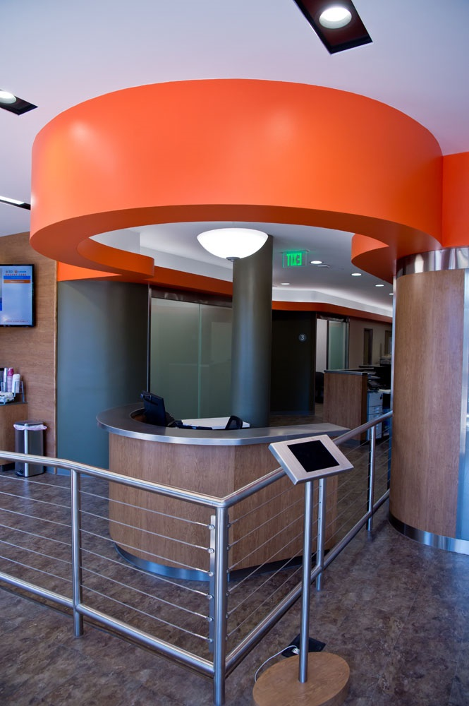 Interior of entrance to the Dignity Health-GoHealth Urgent Care Center in Castro, California