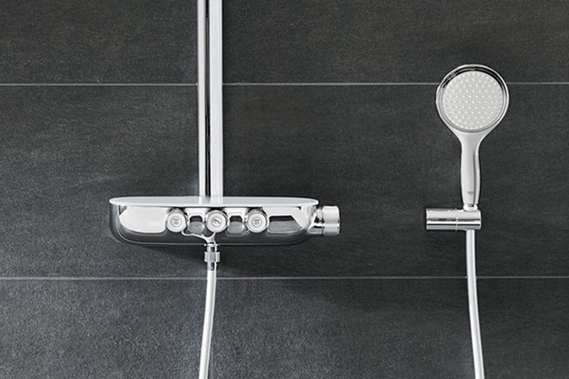 Personalized shower experience: Grohe Rainshower SmartControl ...