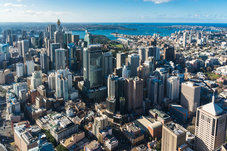 Sydney, Australia's business district.