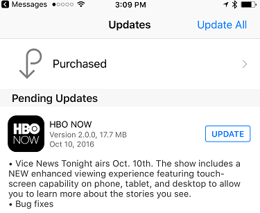 HBO / Vice app update