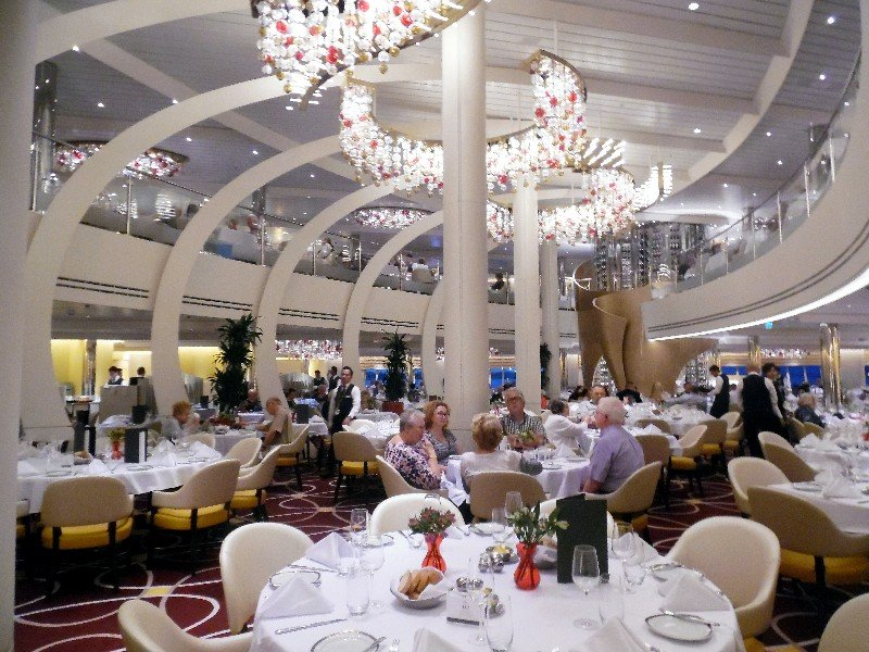 Main Dining Room Koningsdam Holland America Editorial Use Only Copyright Susan J. Young