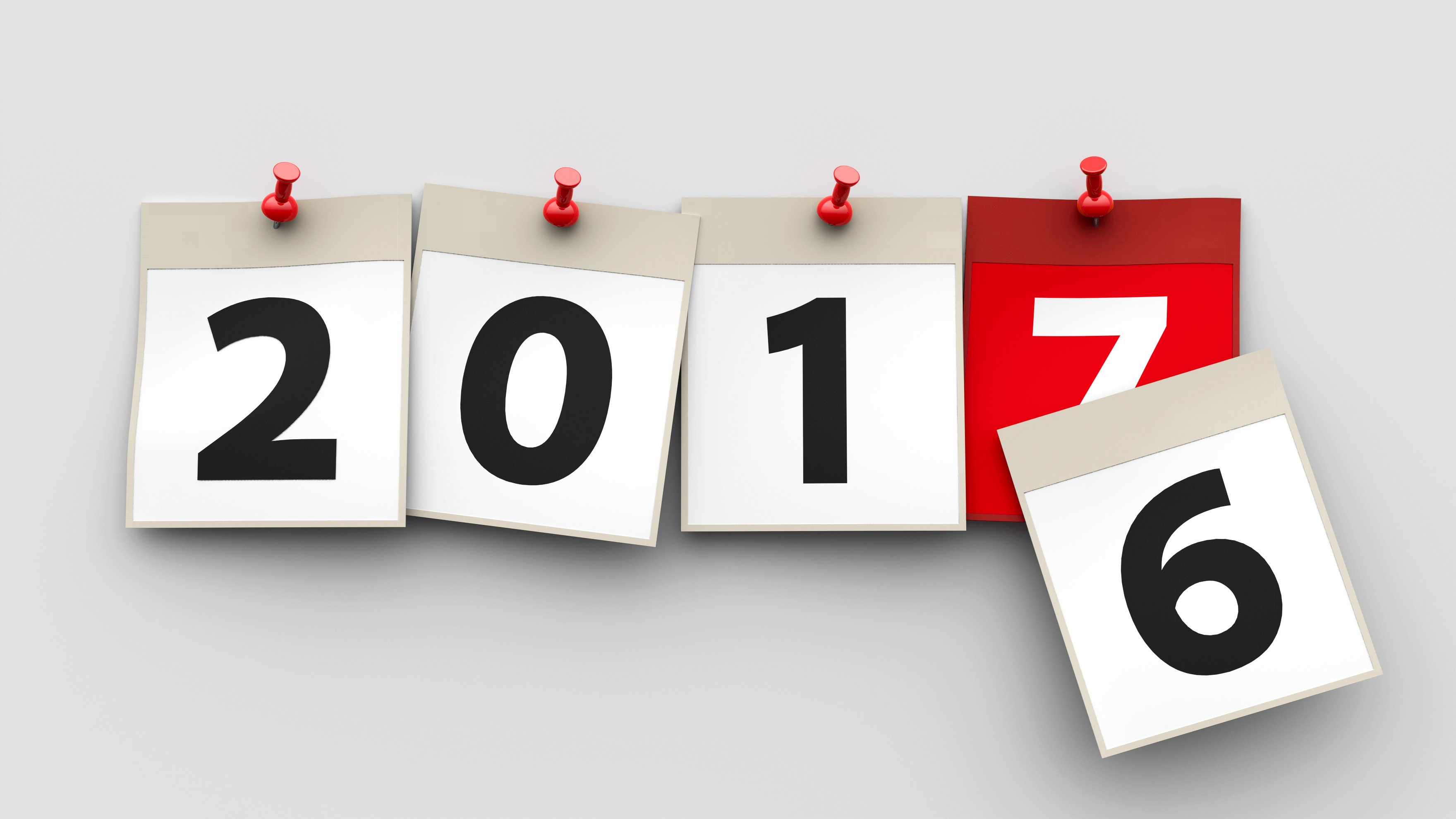 Calendar switching to 2017