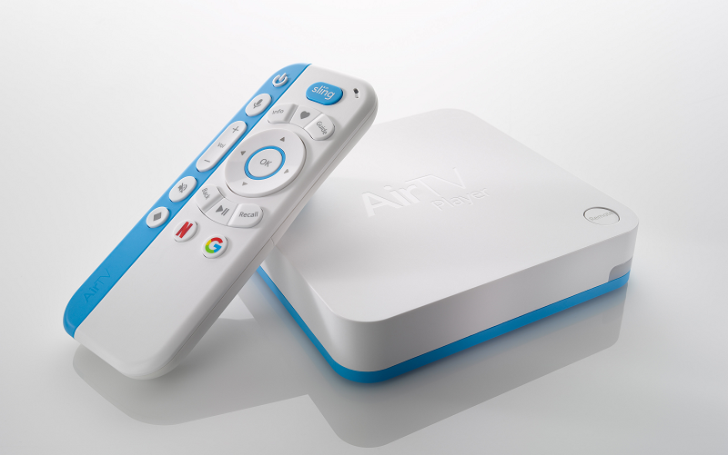 AirTV streaming media device with remote