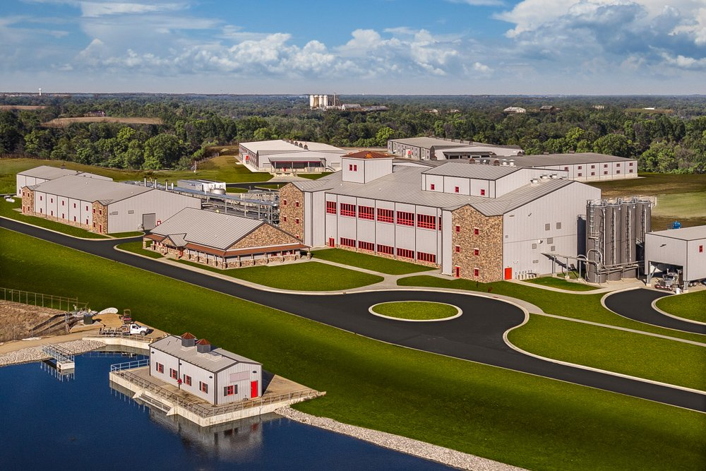 Aerial view of Bulleit Distilling Co. facility