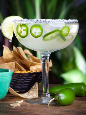 Green Jalapeño Margarita cocktail recipe - St. Patrick's Day cocktails