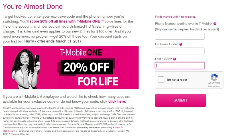 T-Mobile's quiet '20% off for life' promo set to end next