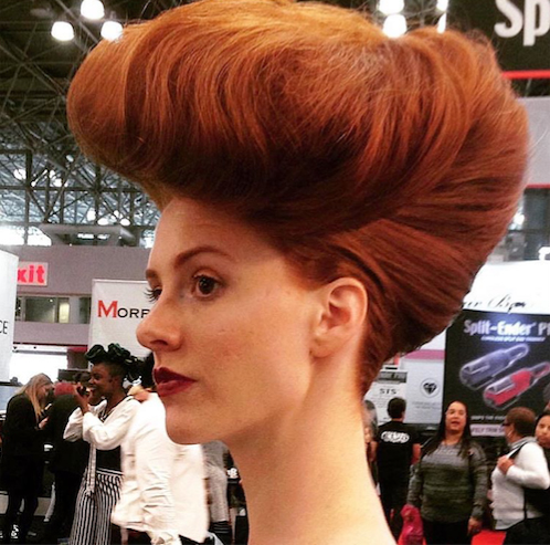 Spotted on the show floor: big hair hair don't care Photo courtesy of @worldbridemagazine