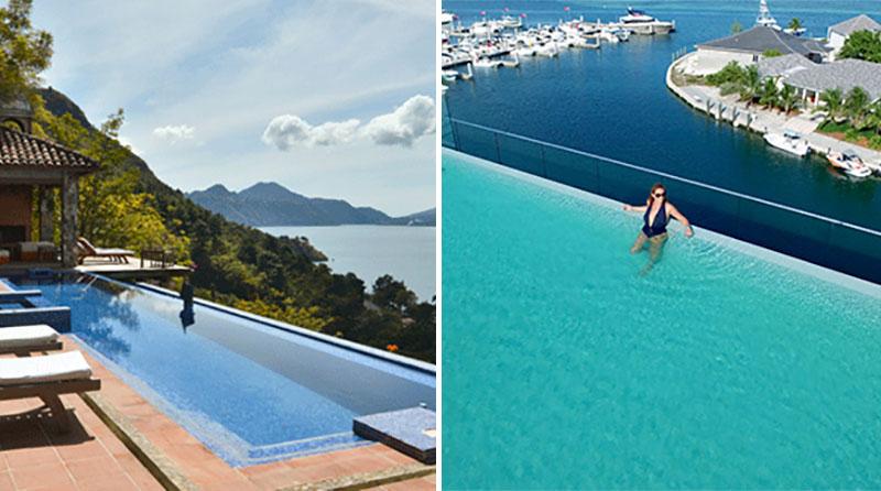 Hotel pools at Casa Palopo and Hilton at Resorts World Bimini