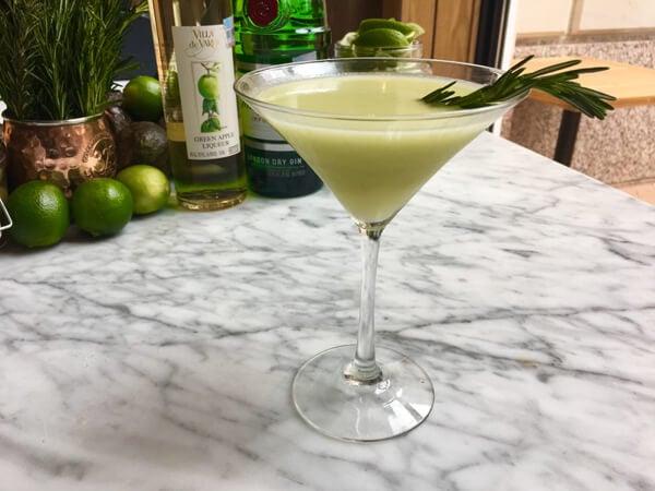 Avocado Gimlet cocktail recipe - Spring cocktails