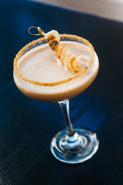 The Candy Apple Cafe Bourbon S'Mores cocktail - Candy cocktails