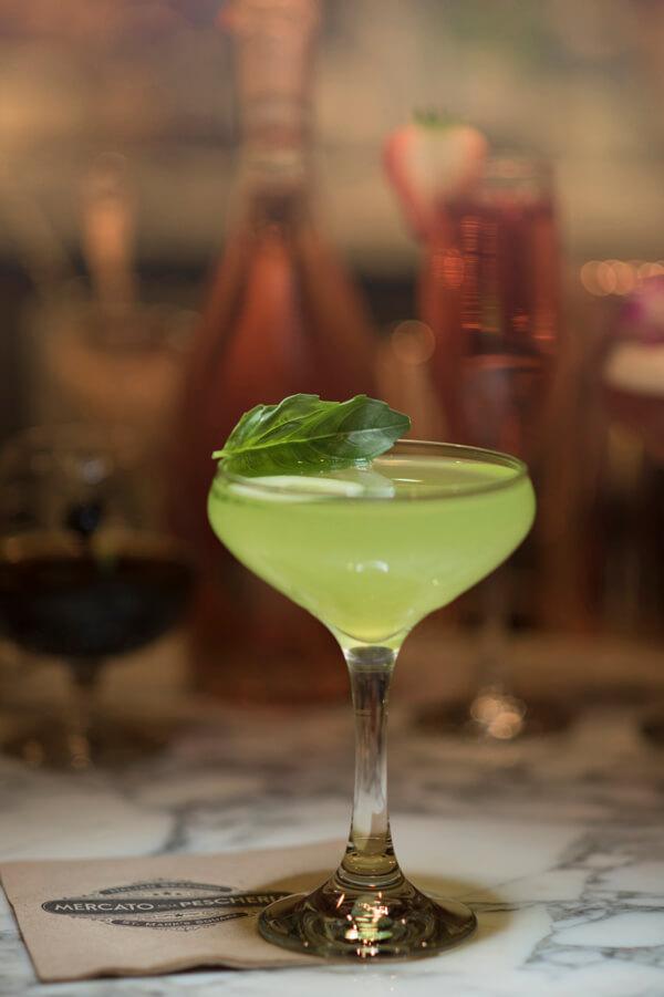 Cucumber-Basil Martini cocktail recipe - Spring cocktails