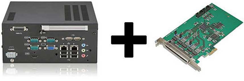 Expansion cards in an industrial embedded PC are a popular design for small systems.