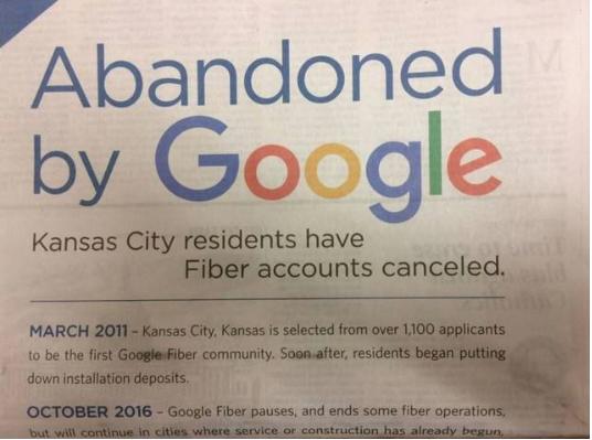 Charter Accuses Google Fiber Of Abandoning Kansas City