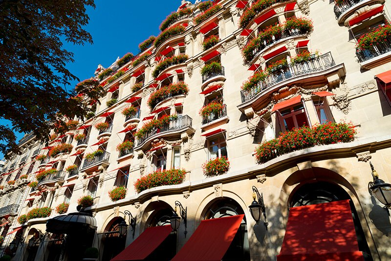 The facade of Hotel Plaza Athenee