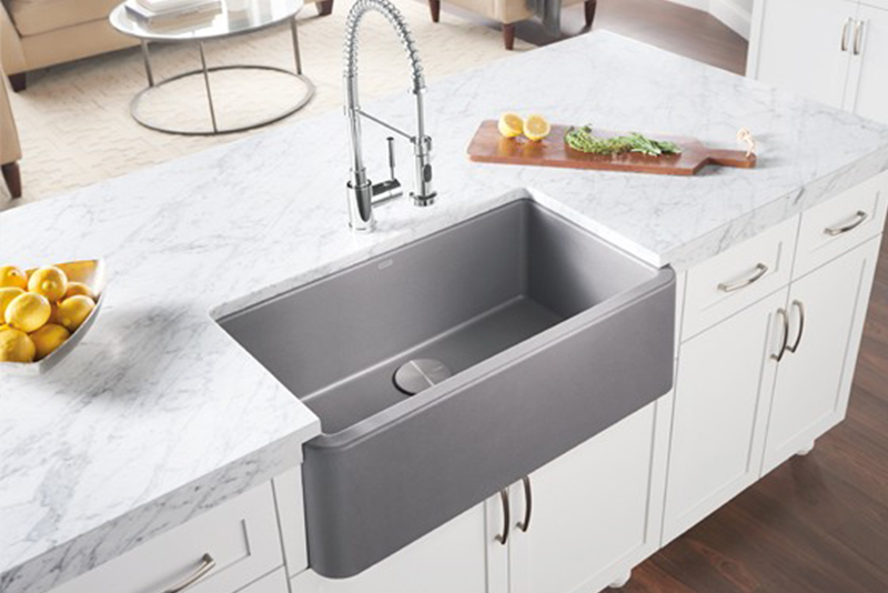 Reinterpreted Classic Blanco S Ikon Apron Front Sink