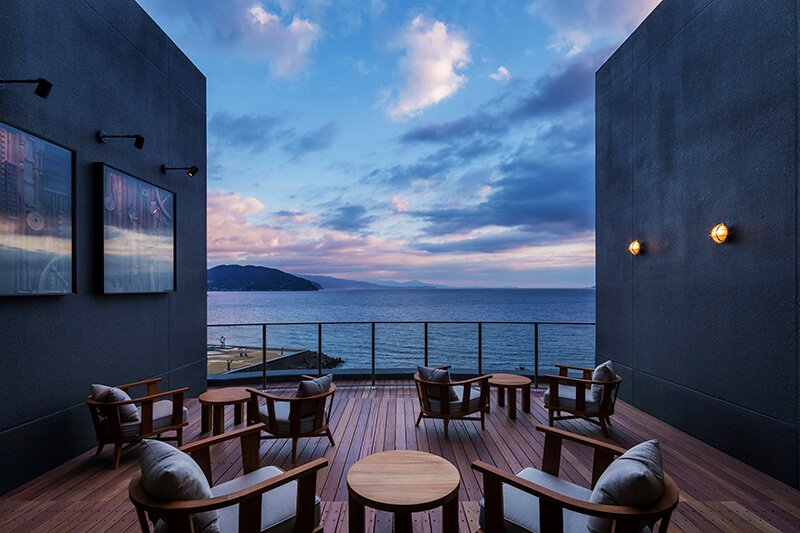 KAI Anjin outdoor deck // Photo by Hoshima Resorts