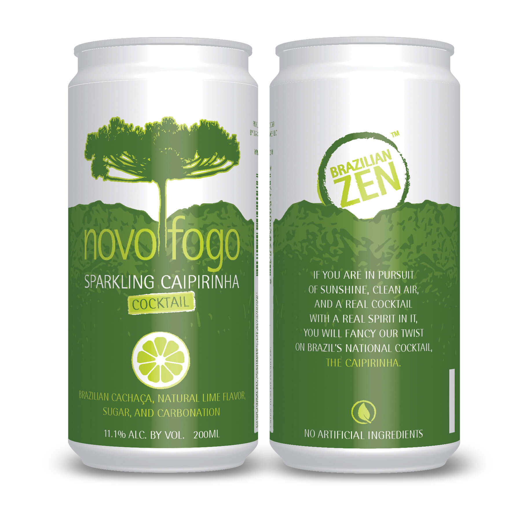 Novo Fogo Sparkling Caipirinha in a can - Ready to drink cocktail