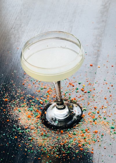 The Candy Apple Cafe Pop Rockadopolis cocktail - Candy cocktails