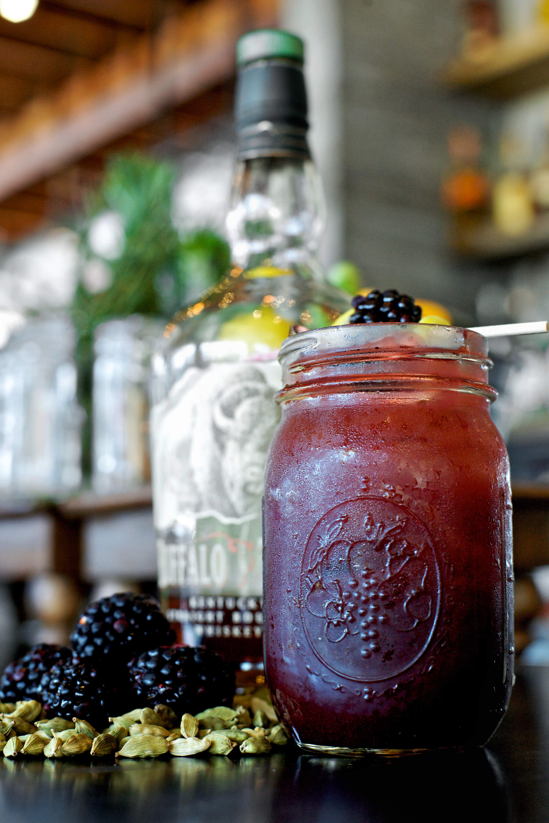 Yardbird Southern Table & Bar Blackberry Bourbon Lemonade punch - Memorial Day 2017 punch bowl recipes