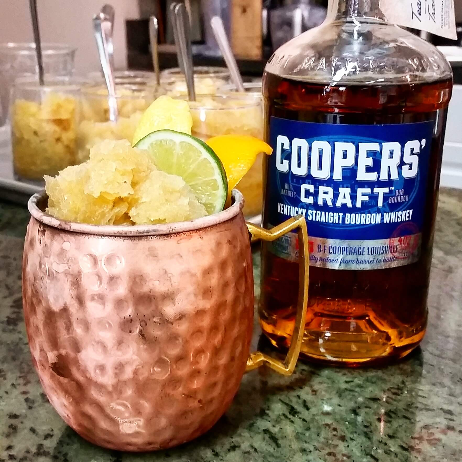 Bourbon Slushie cocktail made with Cooper's Craft - Cooper's Craft Kentucky Straight Bourbon
