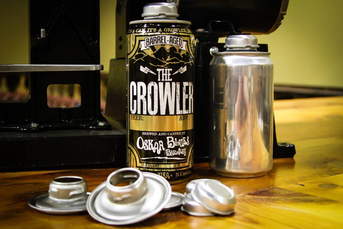 Aluminum Oskar Blues crowler - Make Mine a Crowler