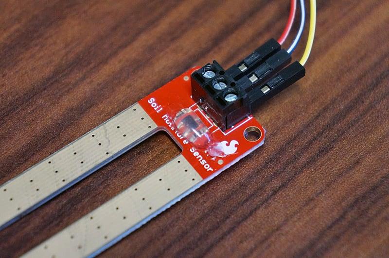 Sensor with hot glue