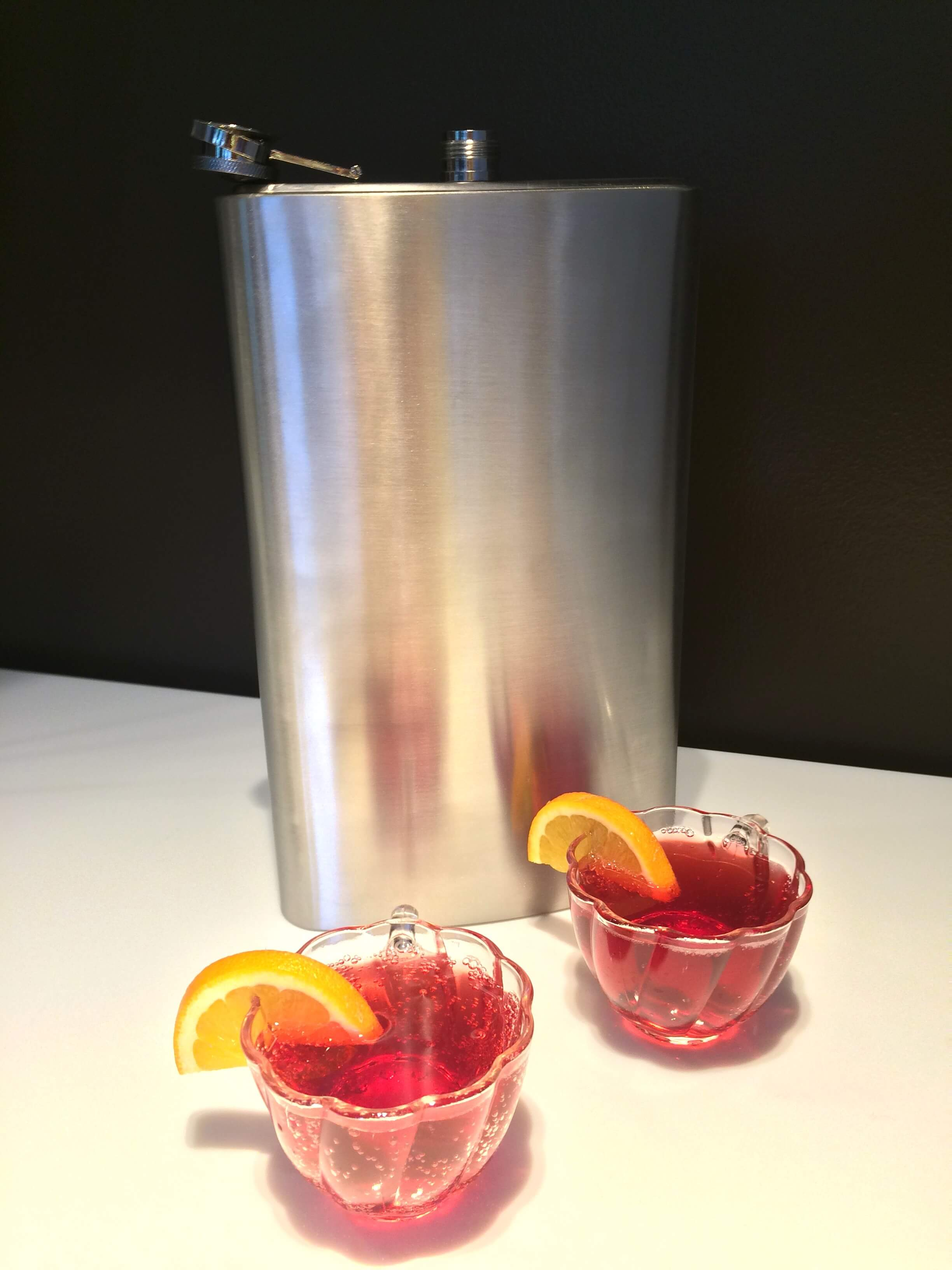 Hooch Punch cocktail from SoBou served in a giant flask