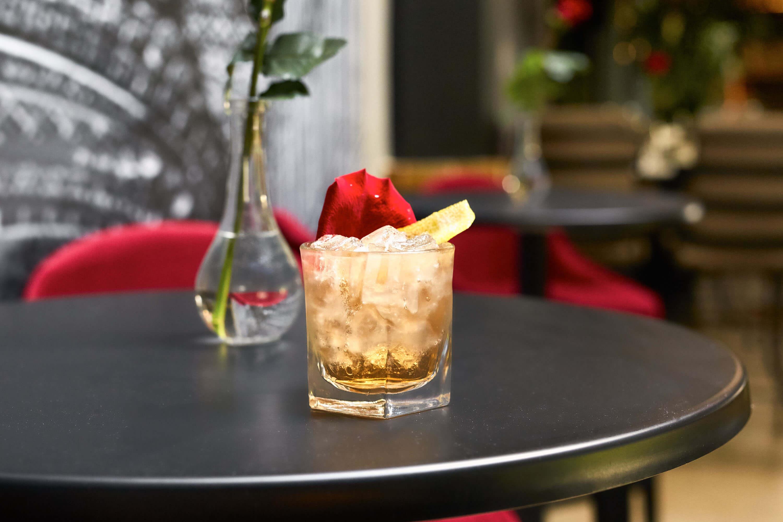 L' Eau de Rose cocktail from City Winery - Firey cocktails