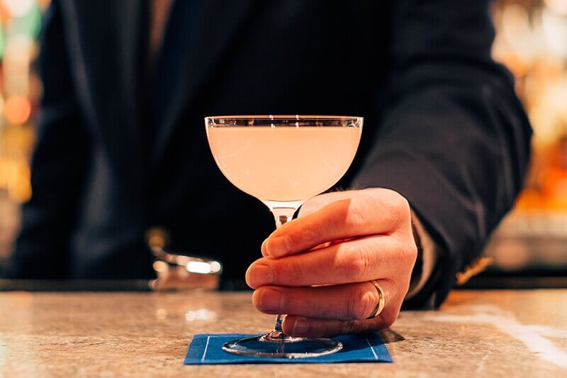 The Marrakesh Express cocktail at Jacques bar inside The Lowell in Manhattan - What's Shakin' week of May 15, 2017