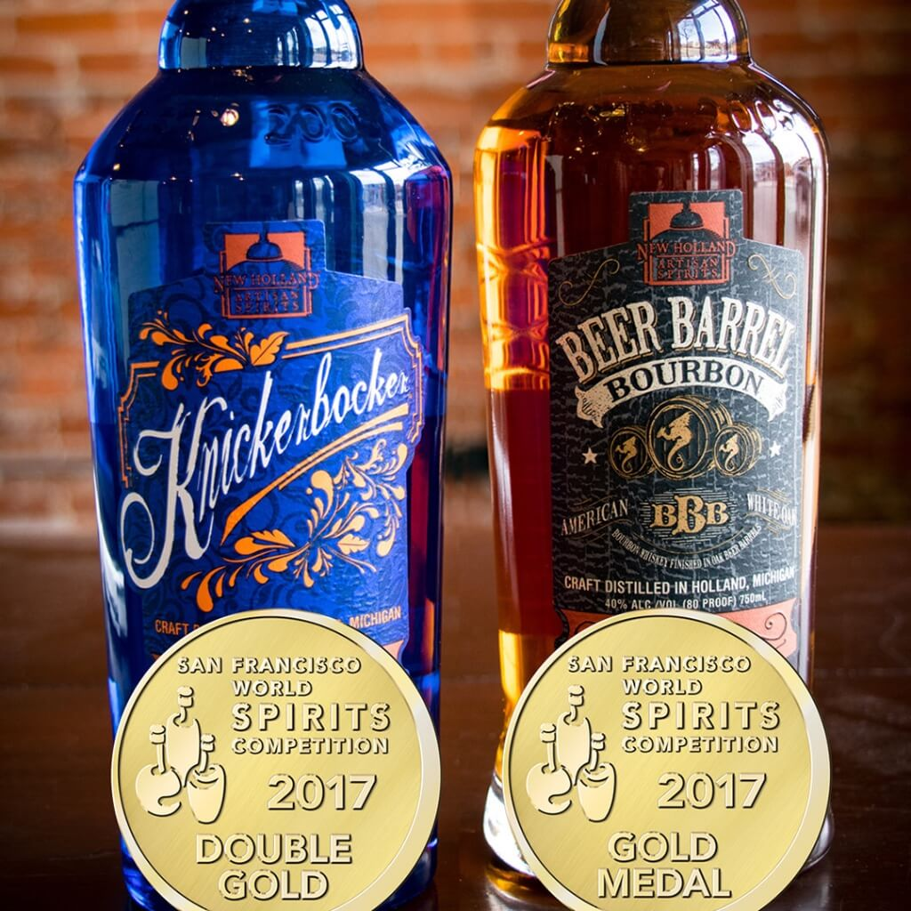 New Holland Knickerbocker Gin and Beer Barrel Bourbon - What's Shakin' week of May 1, 2017