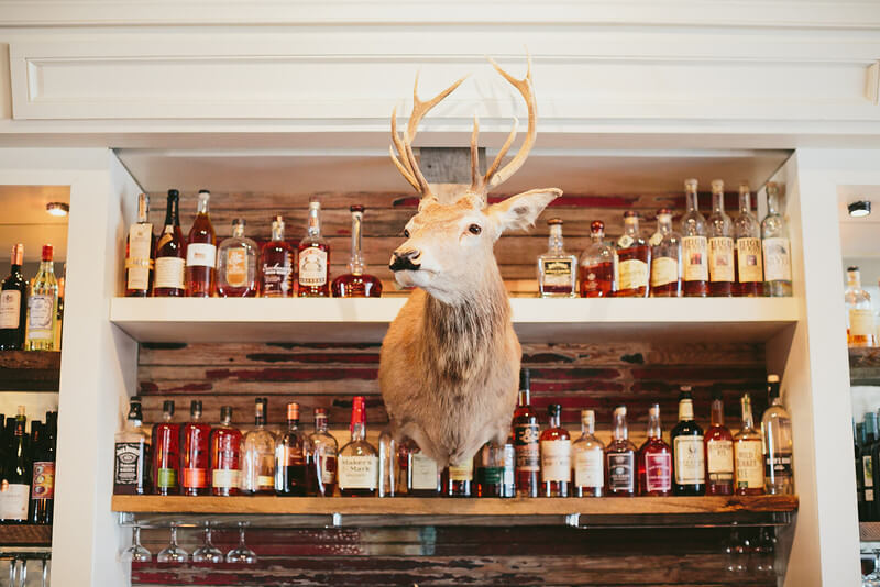 The bar inside One Eared Stag in Atlanta
