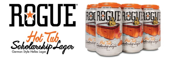 Rogue Ales & Spirits Hot Tub Scholarship Lager Jack Joyce fund - What's Shakin' week of May 22, 2017