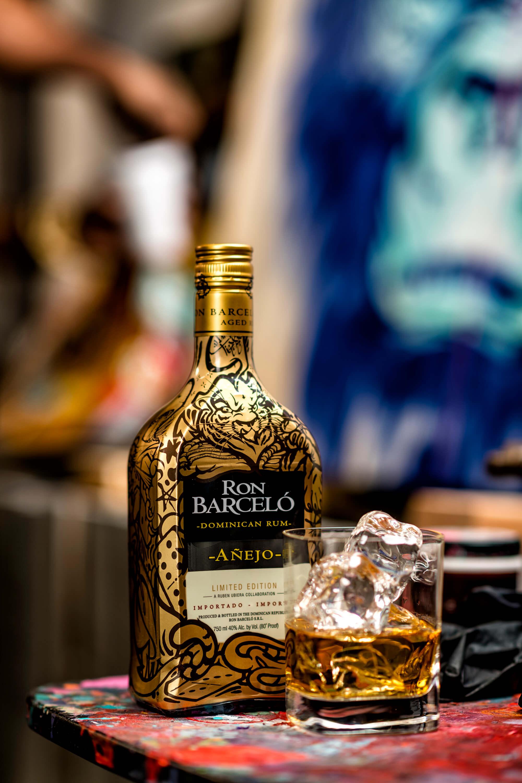 Ron Barceló limited edition Ruben Ubiera Añejo rum bottle - What's Shakin' week of May 22, 2017