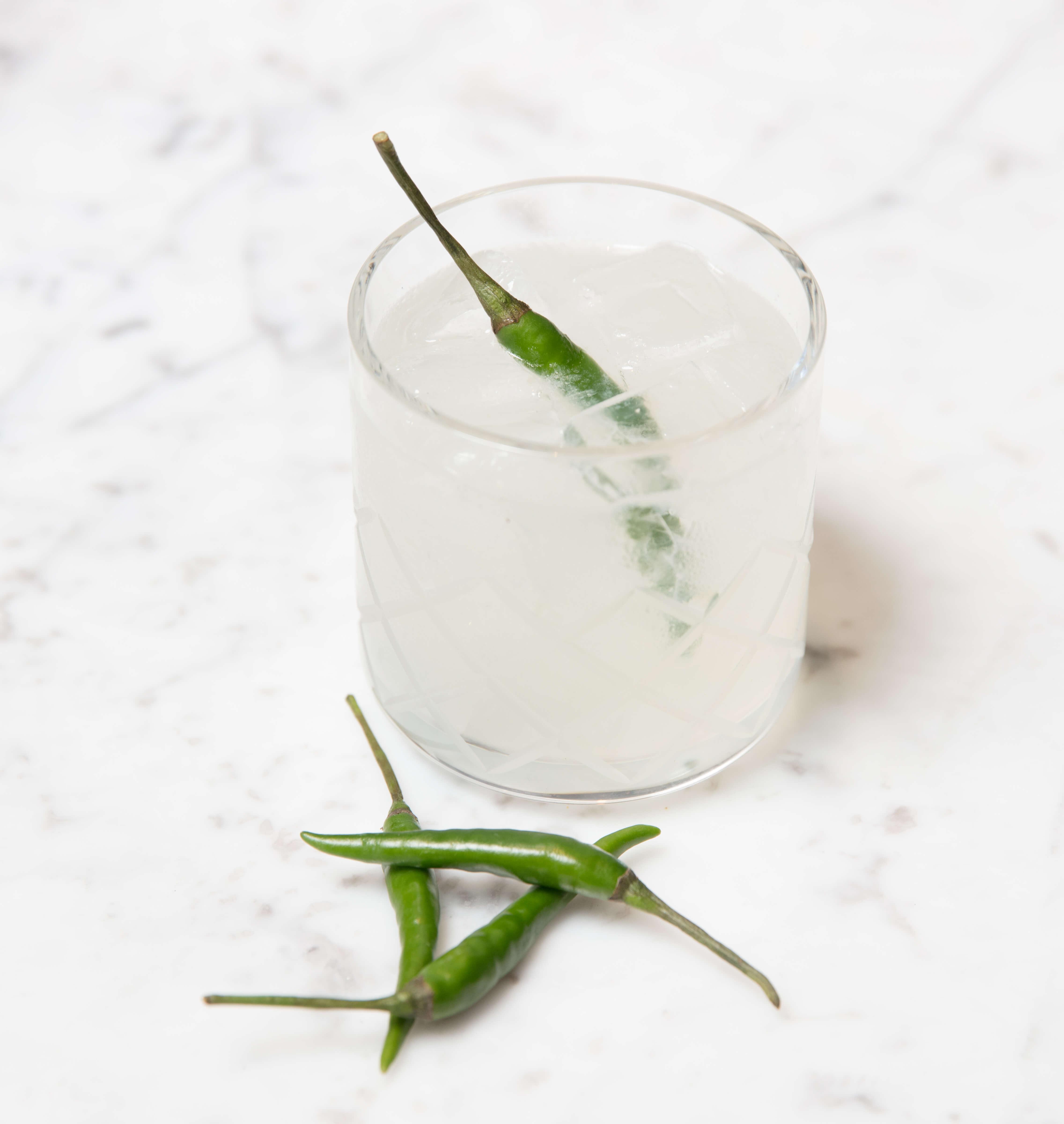 Thai Margarita cocktail from Grayson Social - Firey cocktails