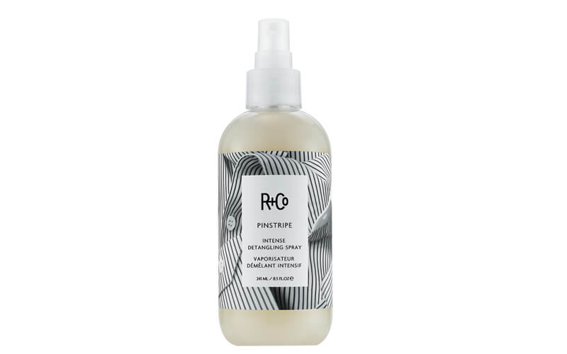 A few other curl detanglers to try: R+Co Pinstripe Intense Detangling Spray has a lightweight texture but tames even the most unmanageable curls.