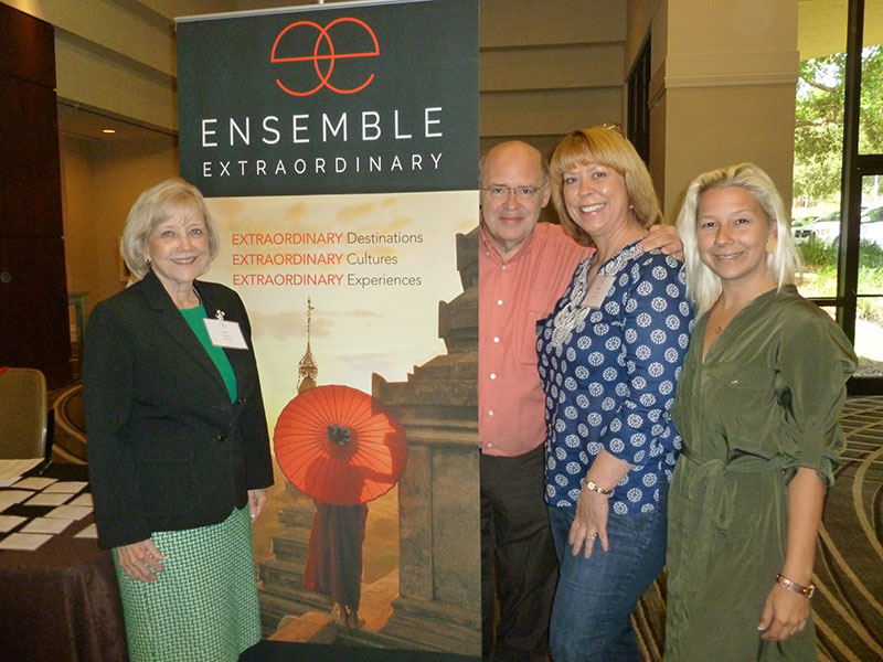 Among those attending the Orlando event from Go Travel were (L-R) Susan Bales, Bob Cook, Debbie Clements, and Julia Bales.