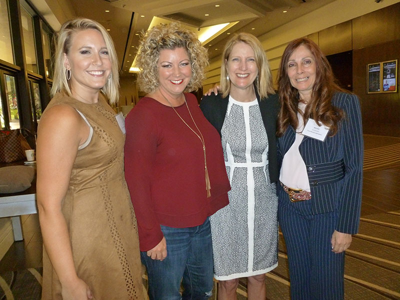 Travel Planners International was well represented in Orlando with members and staff including (L-R) Breanna Cash, Jenn Lee, Ensemble's Libbie Rice, and Marisabel Marty.