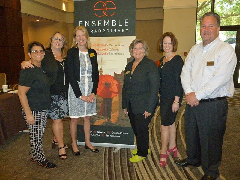Participating in the Orlando event were the following Ensemble staff (L-R): Julia Block, Cristie Newell, Libbie Rice, Barbara Ellenberger, Kim Specht, and Don Kennedy.