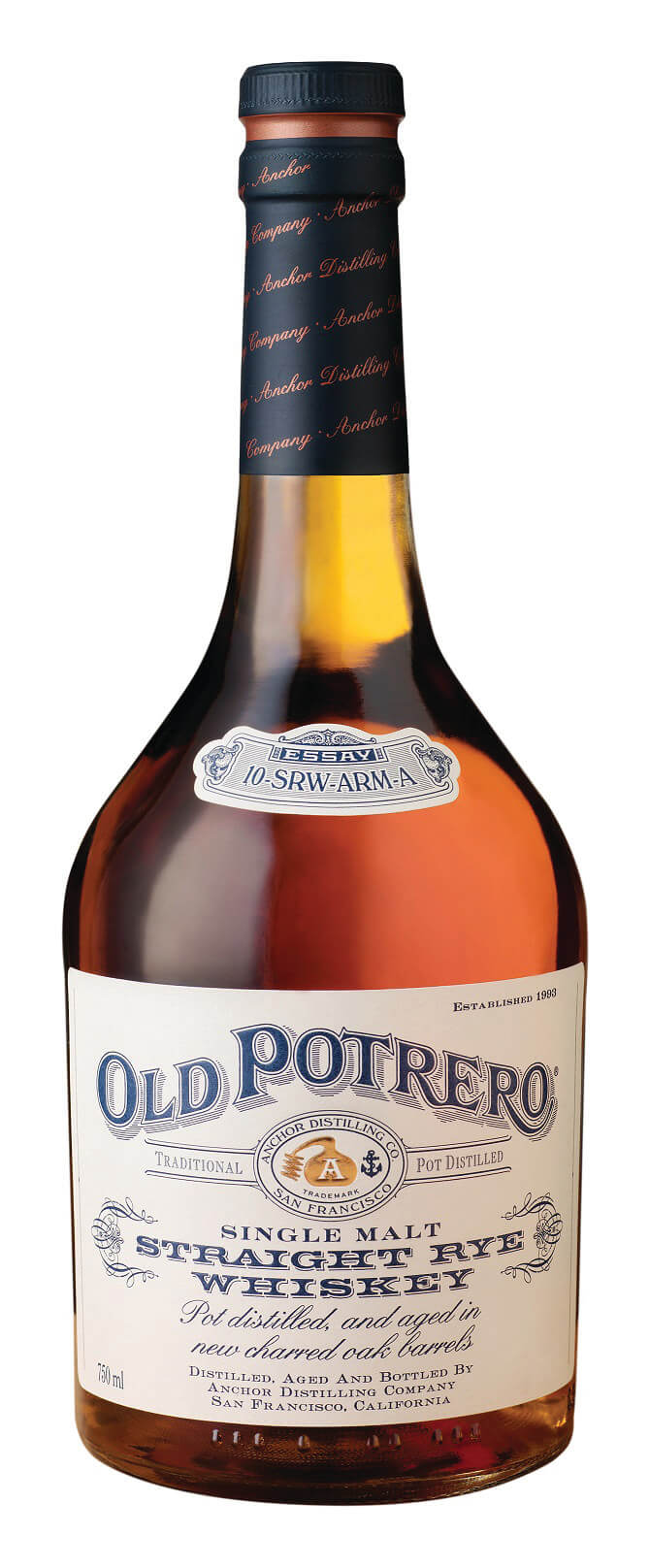 Old Potrero Single Malt Straight Rye Whiskey bottle - Anchor Distilling Company