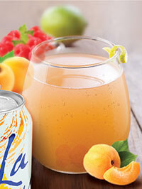 Apricot Bellini mocktail made with Apricot LaCroix sparkling water - Healthier summer drink recipes