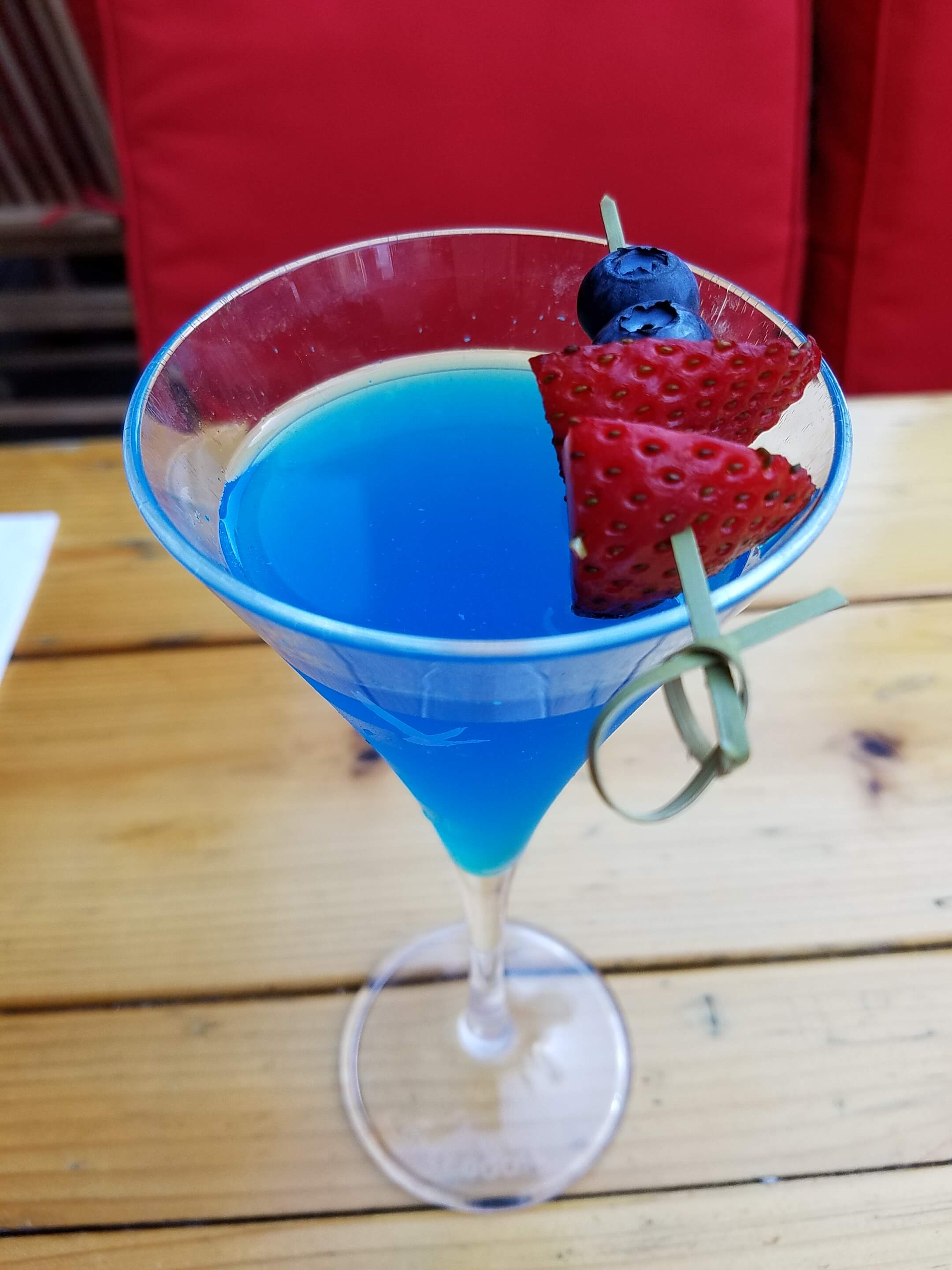 Blue Freedom cocktail at Haven Rooftop - Red, White and Blue cocktail recipes for 4th of July