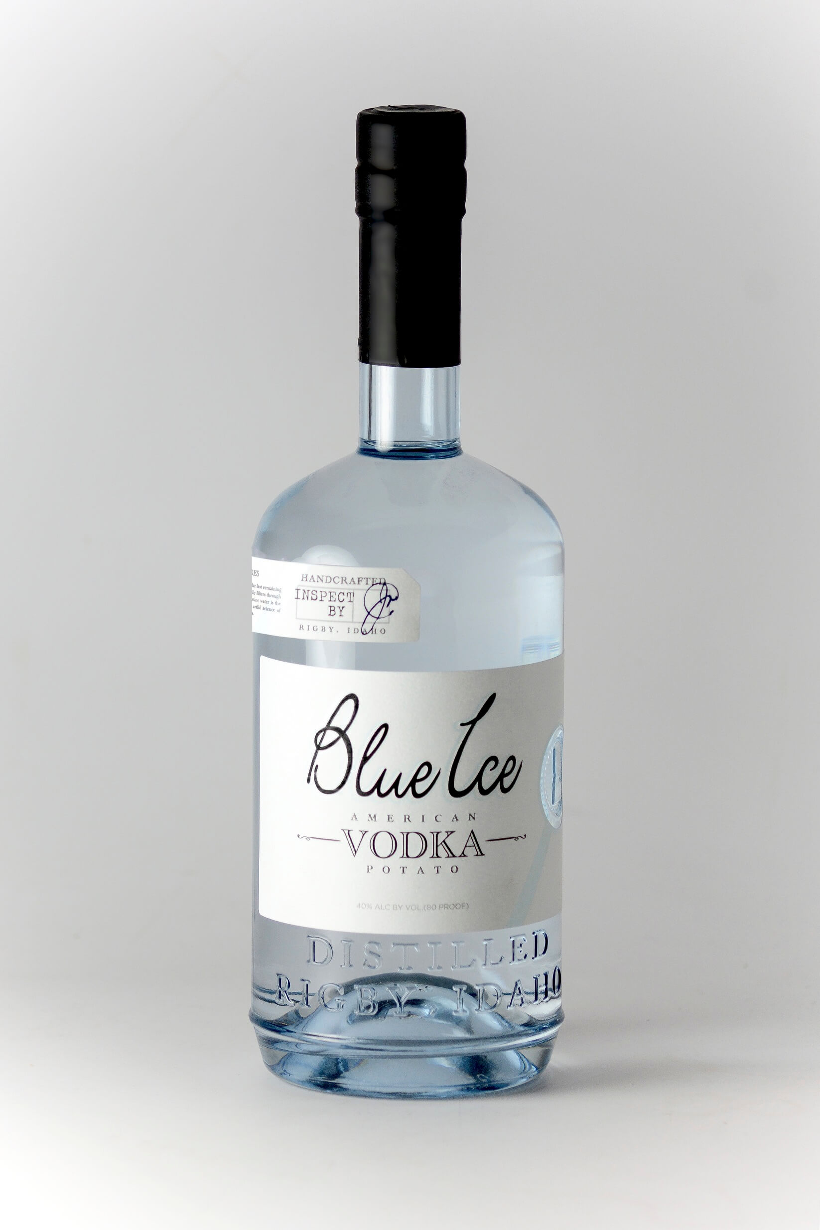 Blue Ice Vodka pre-Prohibition Era bottle redesign - What's Shakin' week of June 5